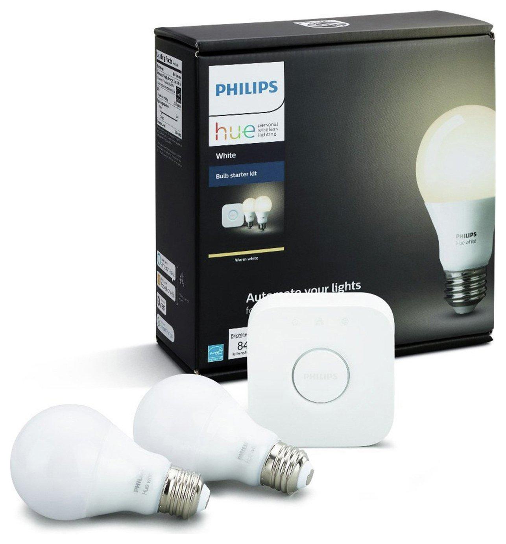 Philips Philips Hue White Wireless Lighting E27 LED Starter Kit.