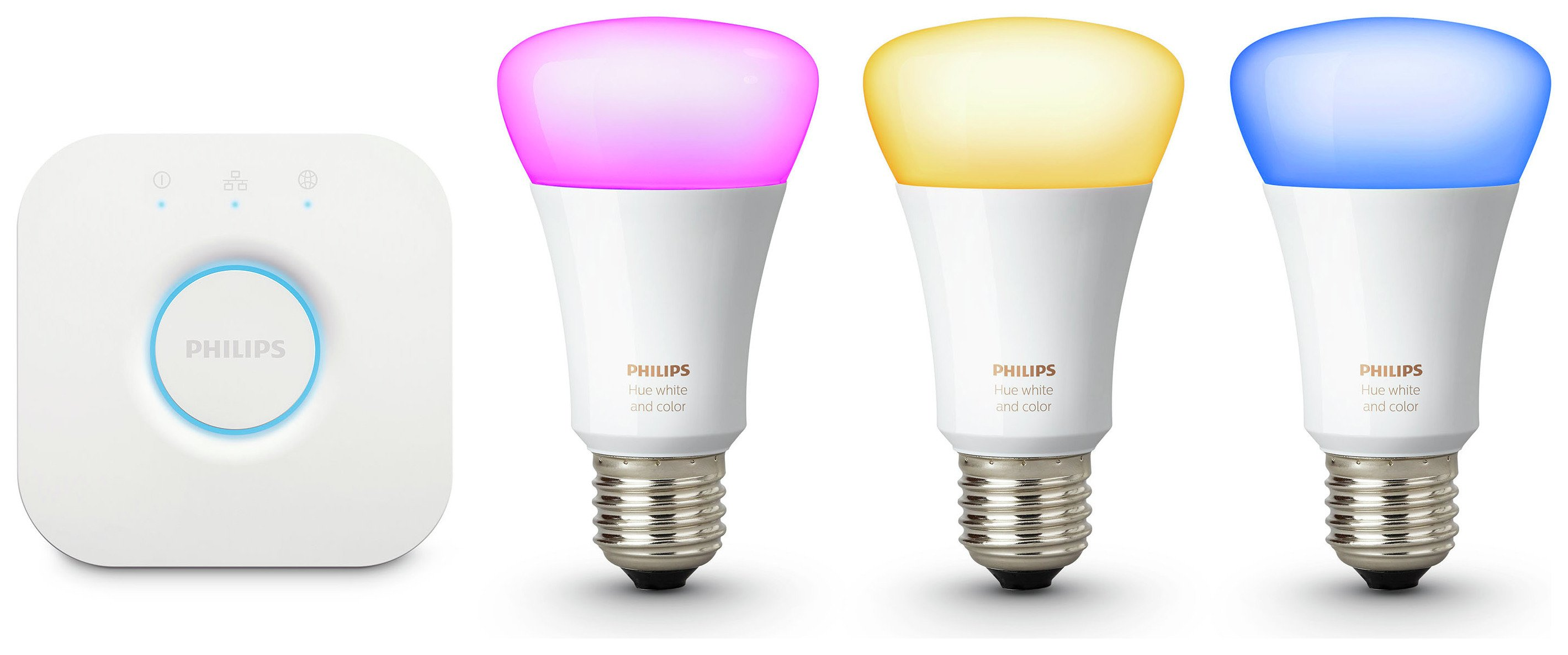 Philips hue Philips Hue Colour Ambiance Wireless E27 LED Starter Kit.