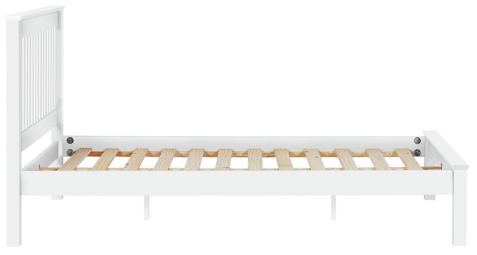 Buy Collection Aspley Kingsize Bed Frame White at Argoscouk