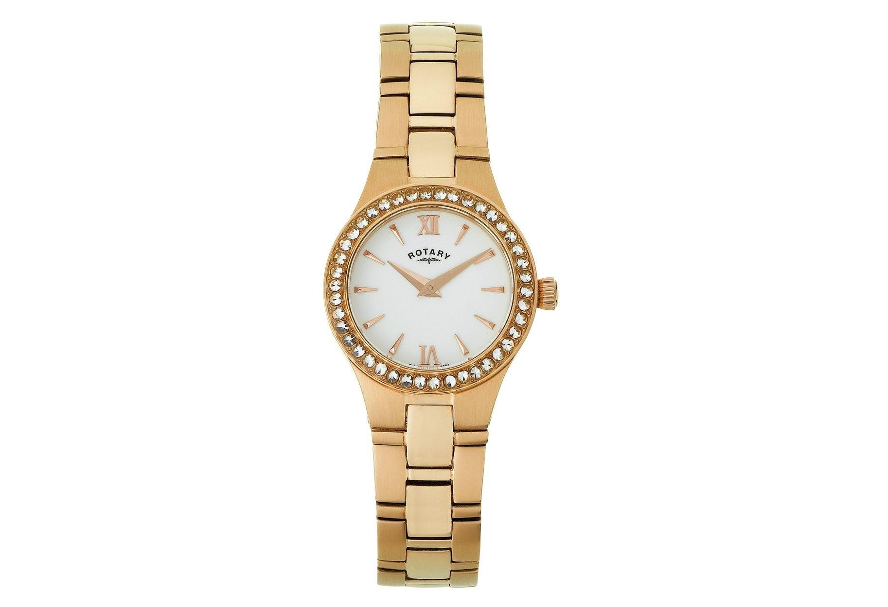 Rotary Ladies' Rose Gold Plated Bracelet Watch