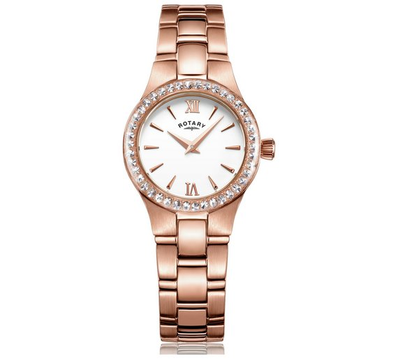 buy rotary ladies rose gold plated bracelet watch at argos co uk rotary ladies rose gold plated bracelet watch497 2141