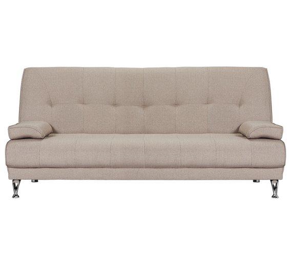 Buy HOME Sicily 2 Seater Fabric Clic Clac Sofa Bed - Natural at ...