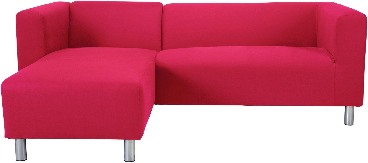 Argos Home Moda Left Corner Fabric Sofa - Red