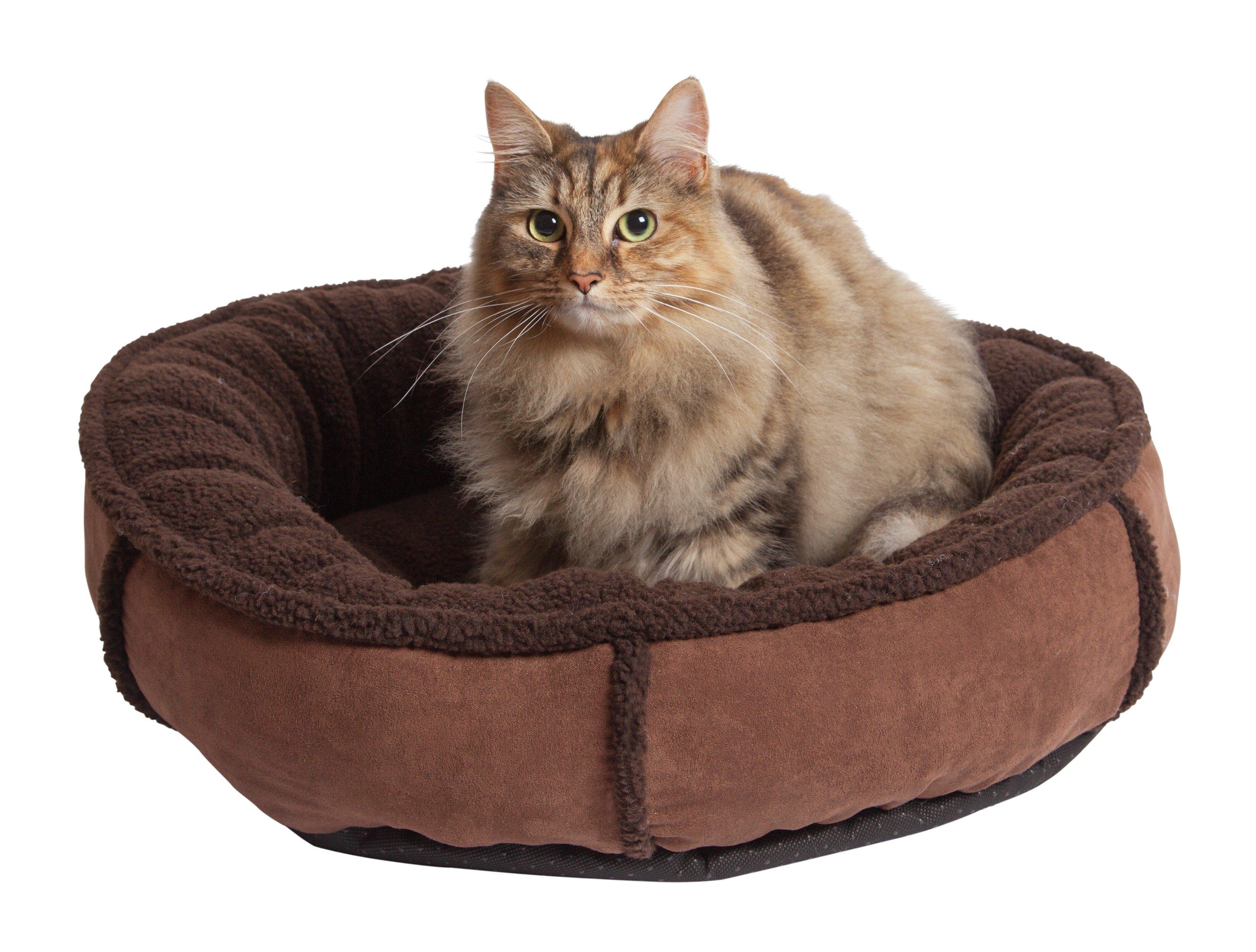 argos suede donut cat bed review. Black Bedroom Furniture Sets. Home Design Ideas