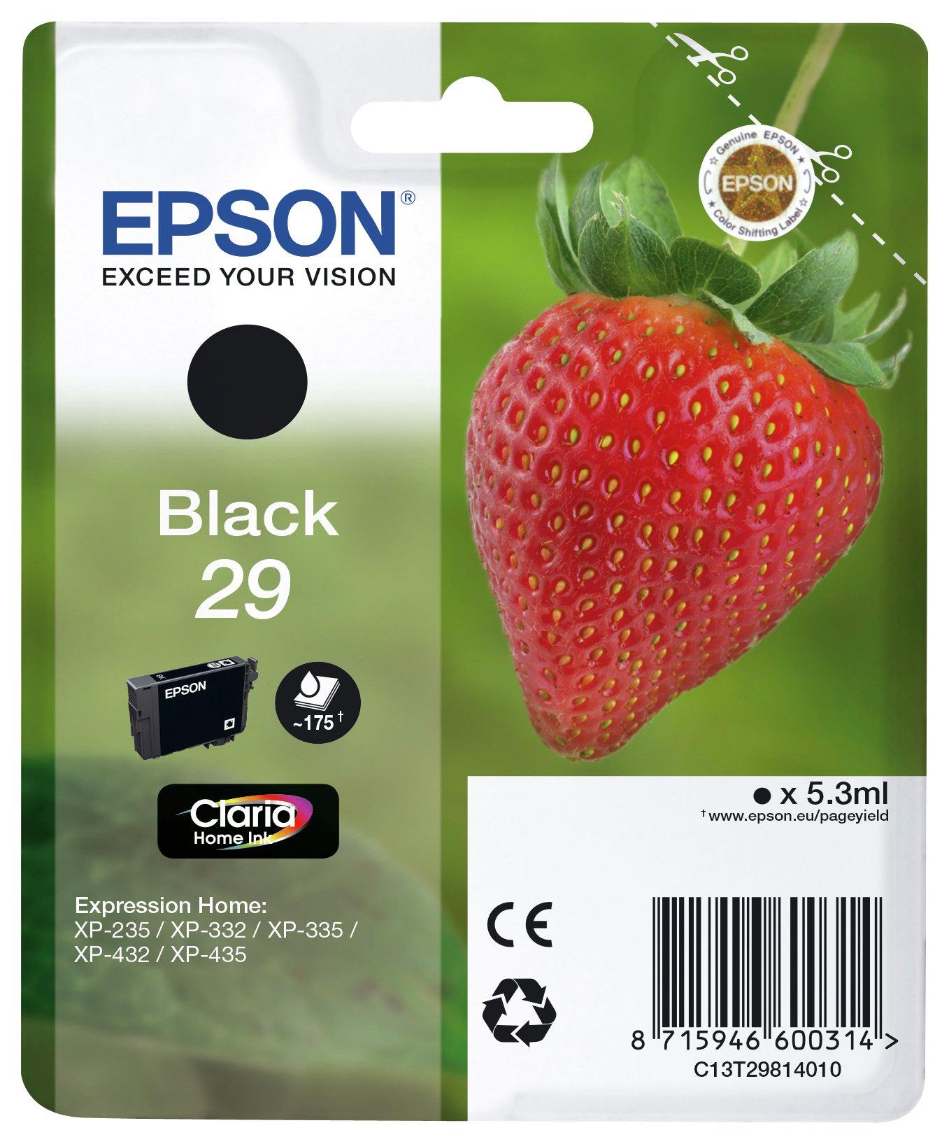 Image of Epson 29 Strawberry Black Ink Cartridge