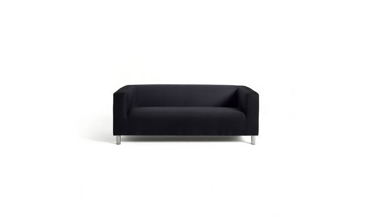 Habitat Moda 3 Seater Fabric Sofa - Black