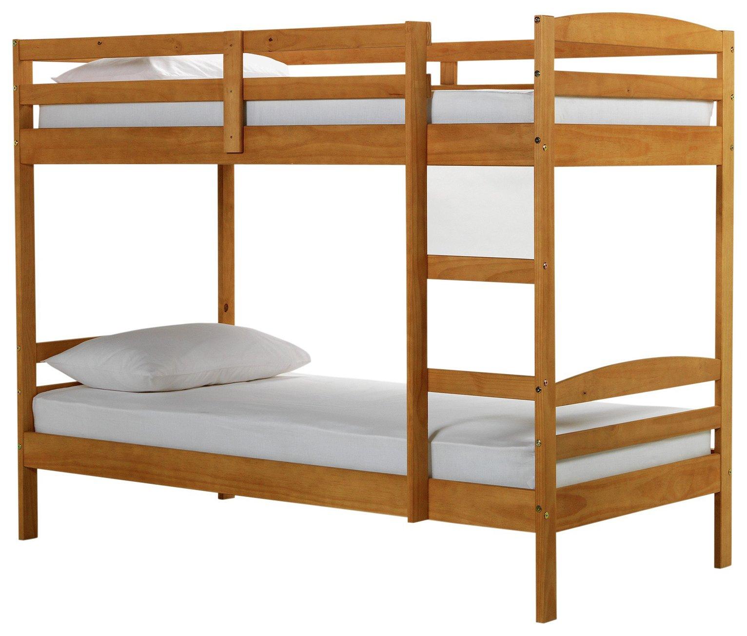 home josie shorty bunk bed with elliott mattress pine