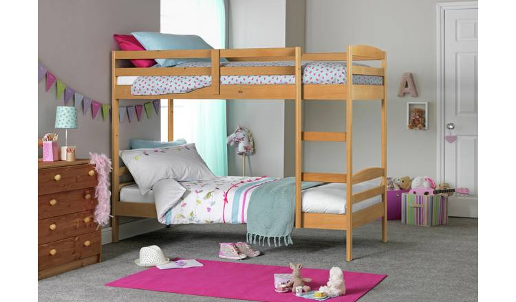 Argos Home Josie Shorty Bunk Bed & 2 Kids Mattresses - Pine