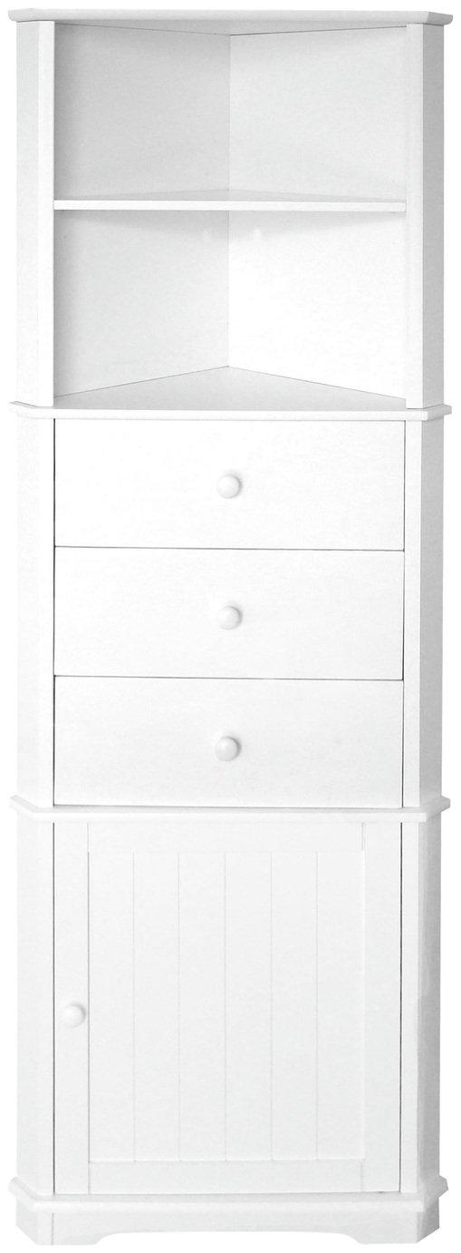 Premier Housewares Wooden Corner Unit - White.