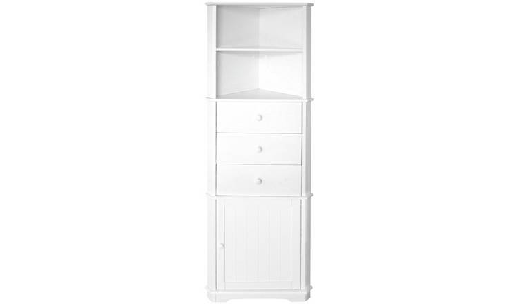 Premier Housewares Wooden Corner Unit - White.