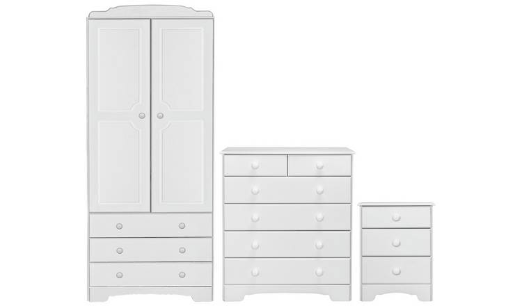 Argos Home Nordic 3 Piece 2 Door Wardrobe Set - Soft White