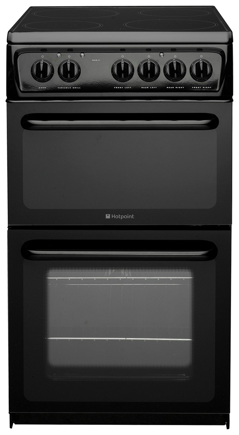 Hotpoint HAE51S Twin Cavity Electric Cooker - Black