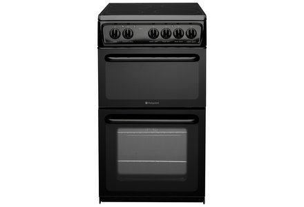 Hotpoint HAE51S Twin Cavity Electric Cooker - Black.