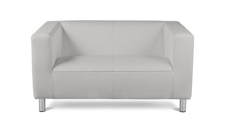 Amazing Buy Argos Home Moda Compact 2 Seater Faux Leather Sofa White Sofas Argos Bralicious Painted Fabric Chair Ideas Braliciousco