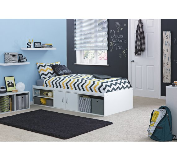 Buy home declan cabin bed white at your for Furniture 123 cabin bed