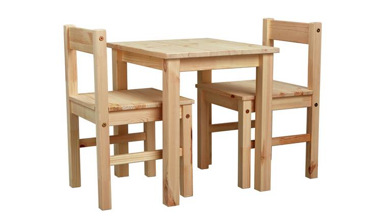 Argos Home Scandinavia Solid Wood Kids Table & Chairs - Pine