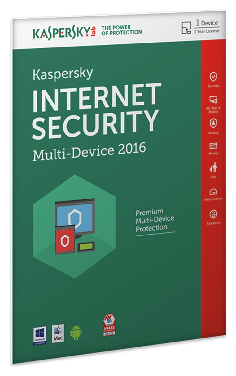 Image of Kaspersky IS 2016 1 Year 1 Device Internet Security