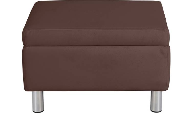 Argos Home Moda Faux Leather Storage Footstool - Brown