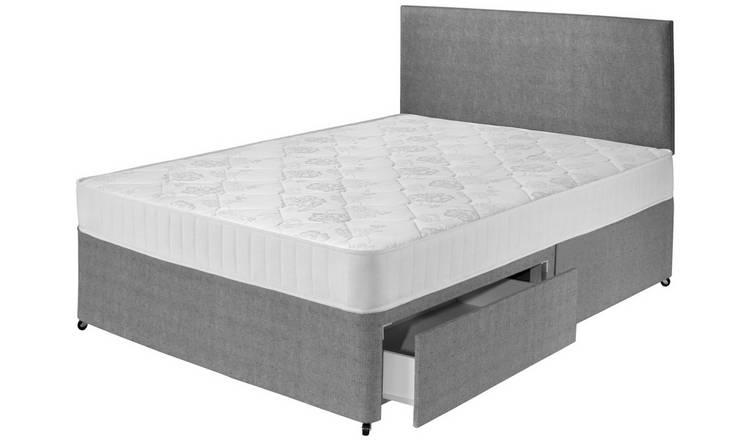best sneakers 81073 bfcc3 Buy Airsprung Elmdon Comfort 2 Drawer Divan - Double | Divan beds | Argos