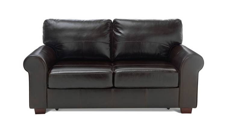 Buy Argos Home Salisbury 2 Seater Leather Sofa Bed Dark