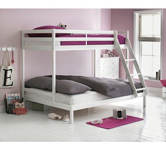 HOME Kaycie Triple Bunk Bed With Elliott Mattress
