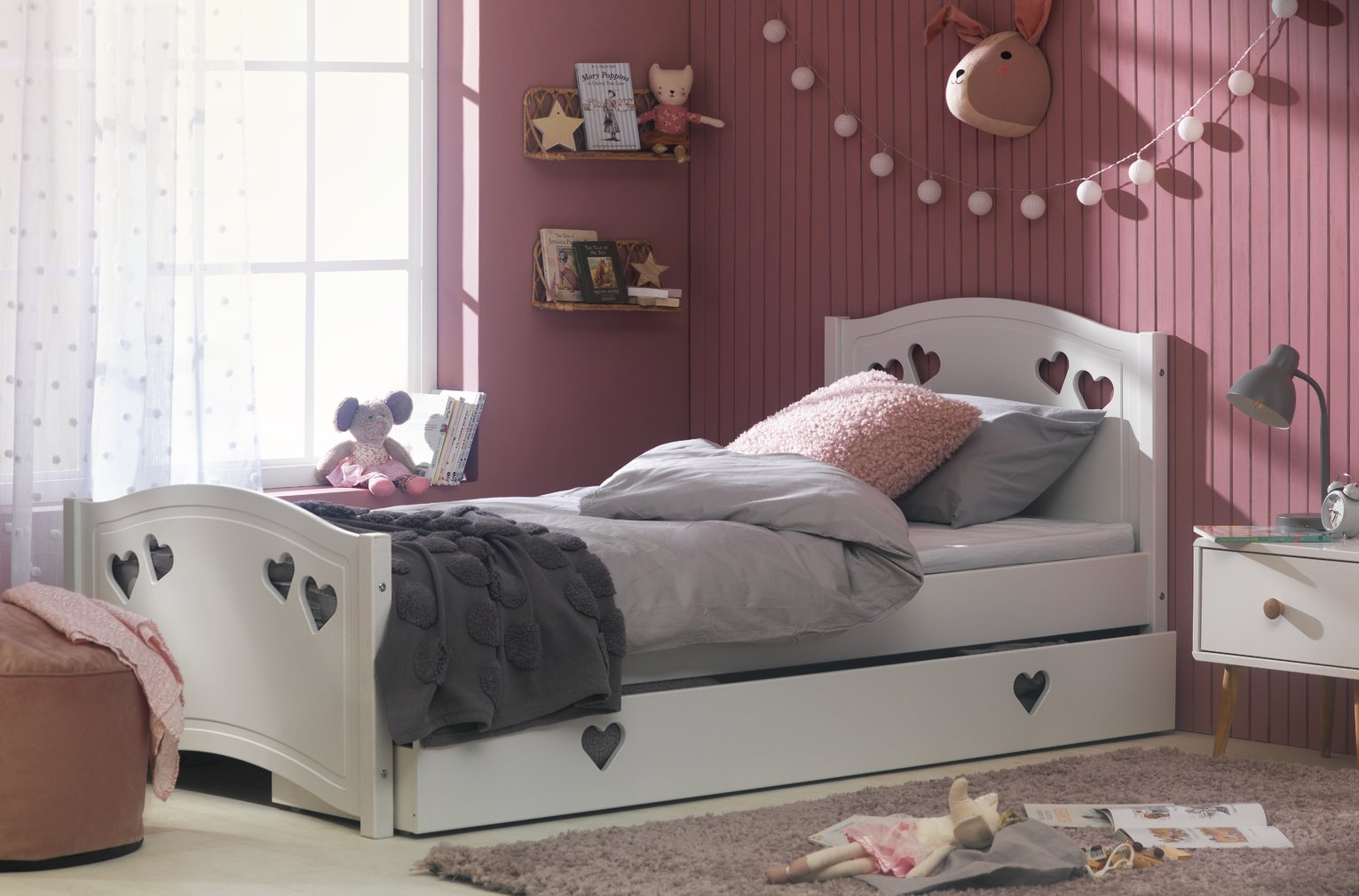Argos Home Mia White Single Bed & Kids Mattress