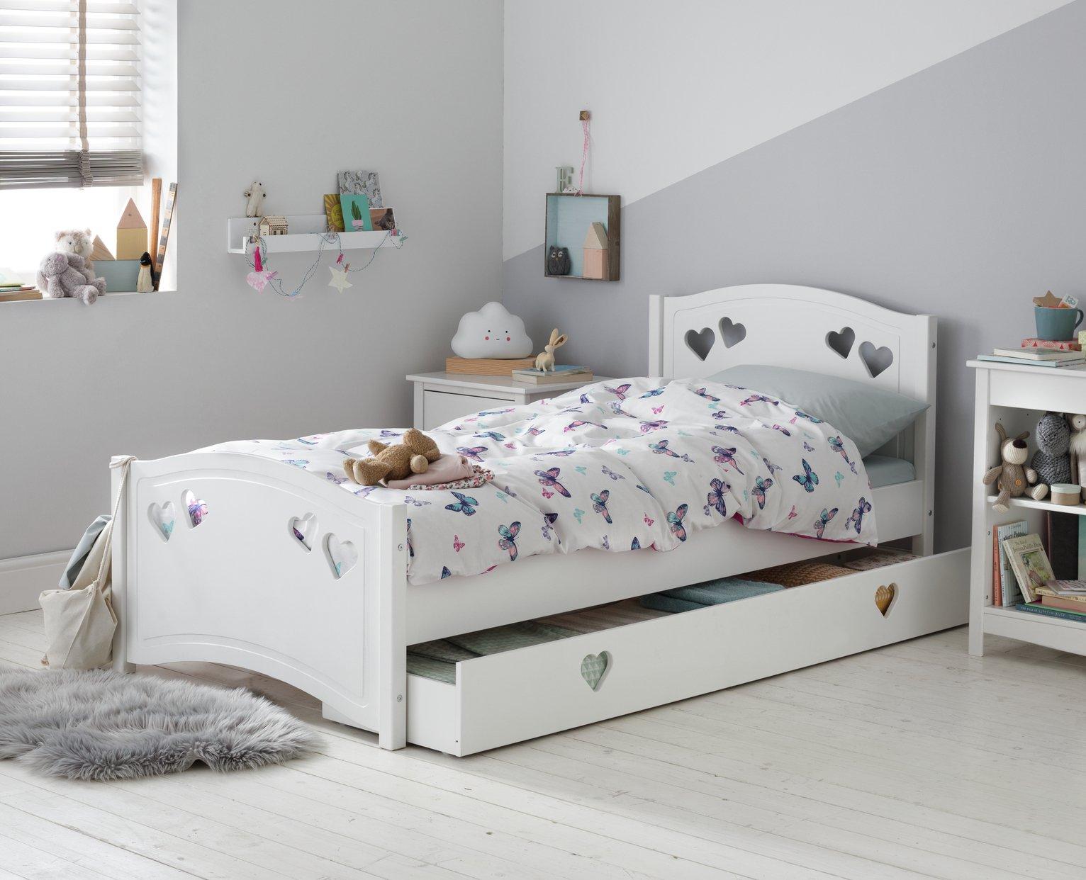 Argos Home Mia White Single Bed & Kids Mattress