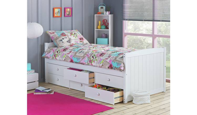 Argos Home Lennox White 6 Drawer Cabin Bed Frame 0