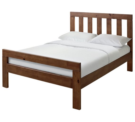 collection chile double bed frame dark stain4986371
