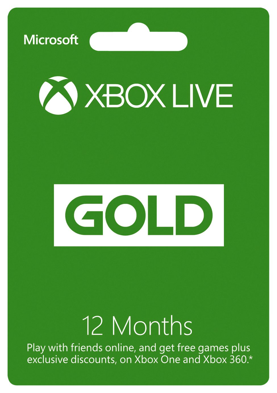 Xbox Xbox Live Gold Membership - 12 Months.