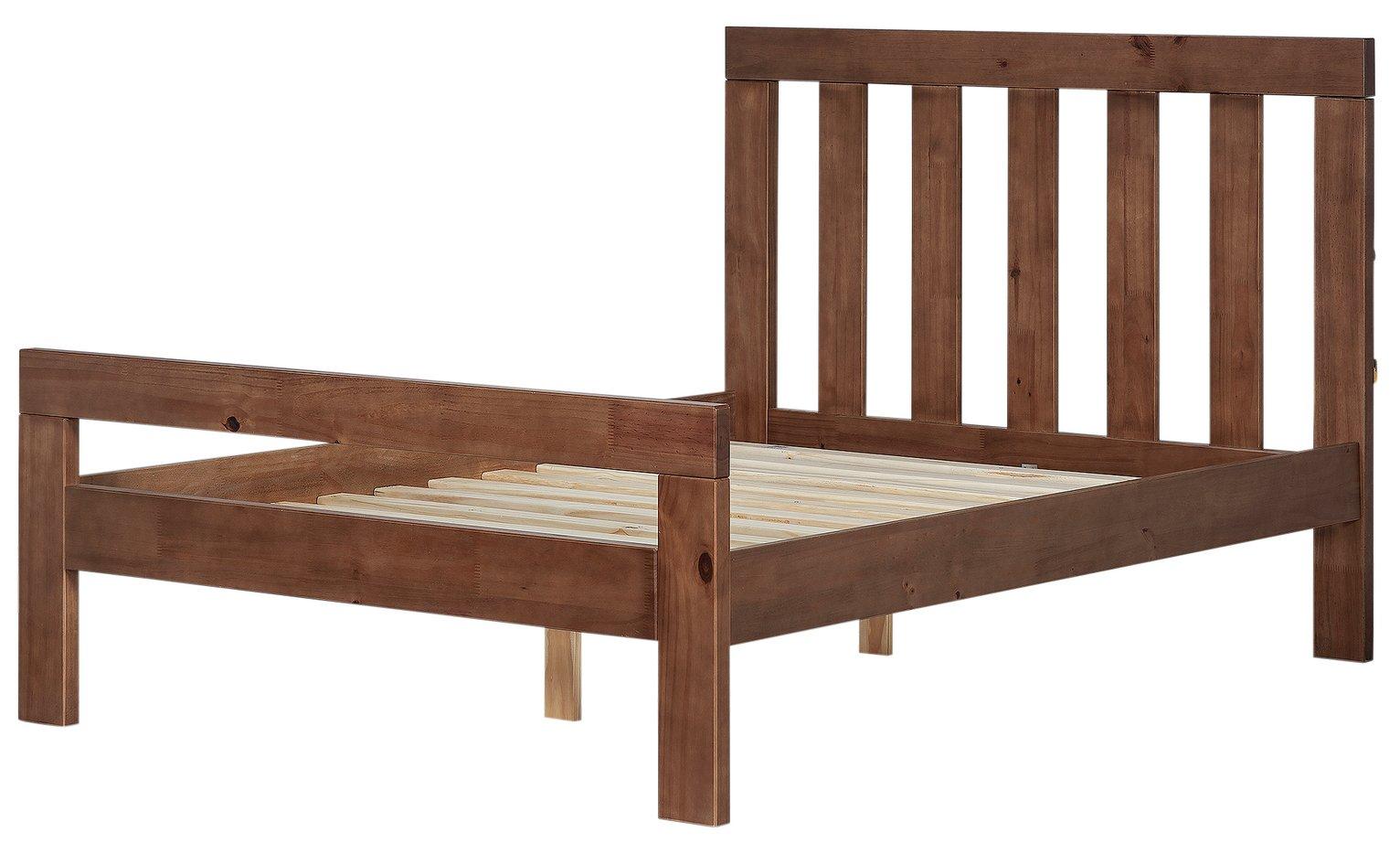 Argos Home Chile Kingsize Bed Frame - Dark Stain
