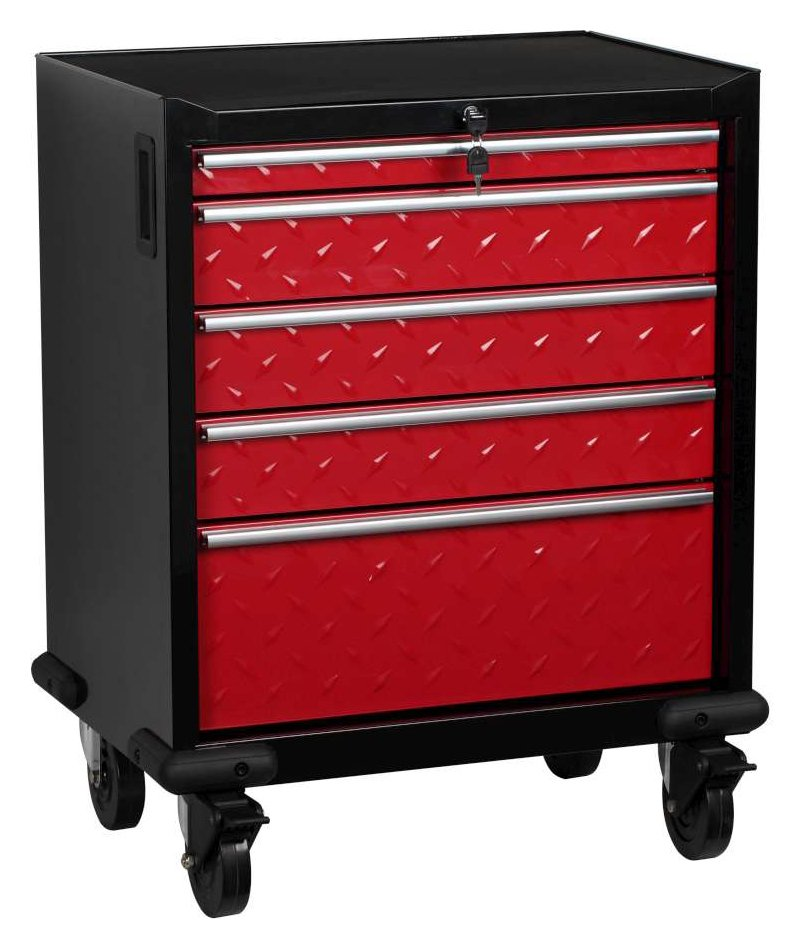 Hilka - 5 Drawer Mobile Garage Cabinet lowest price