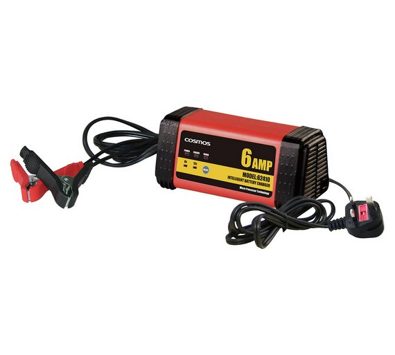 Buy Cosmos Intelligent 6-12V Car Battery Charger - 6 Amps ...