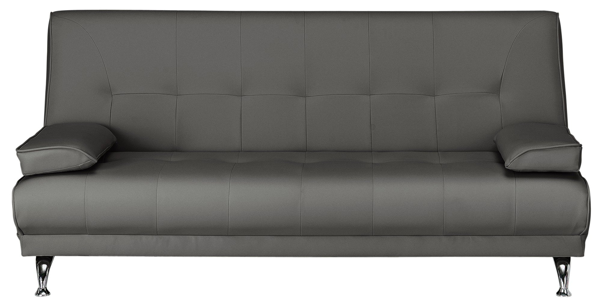 Buy Argos Home Sicily 2 Seater Clic Clac Sofa Bed Charcoal Sofa