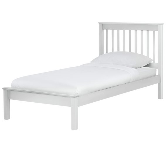 Buy Argos Home Aspley Single Bed Frame - White | Bed frames | Argos