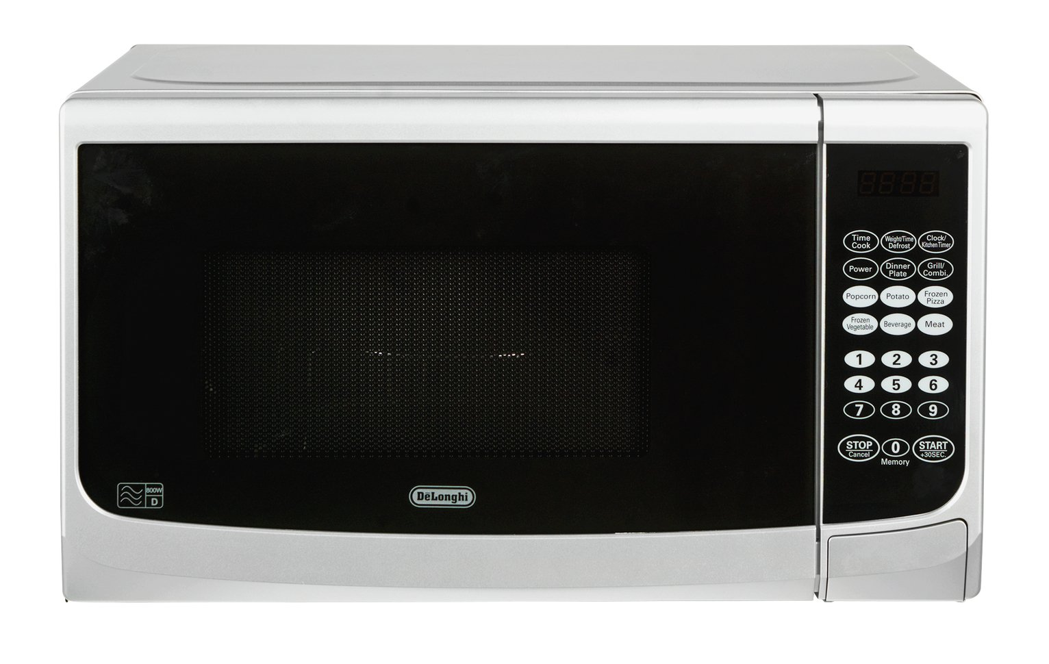 DeLonghi - Microwave With Grill - E98CWW 20L 800W -Touch - Silver