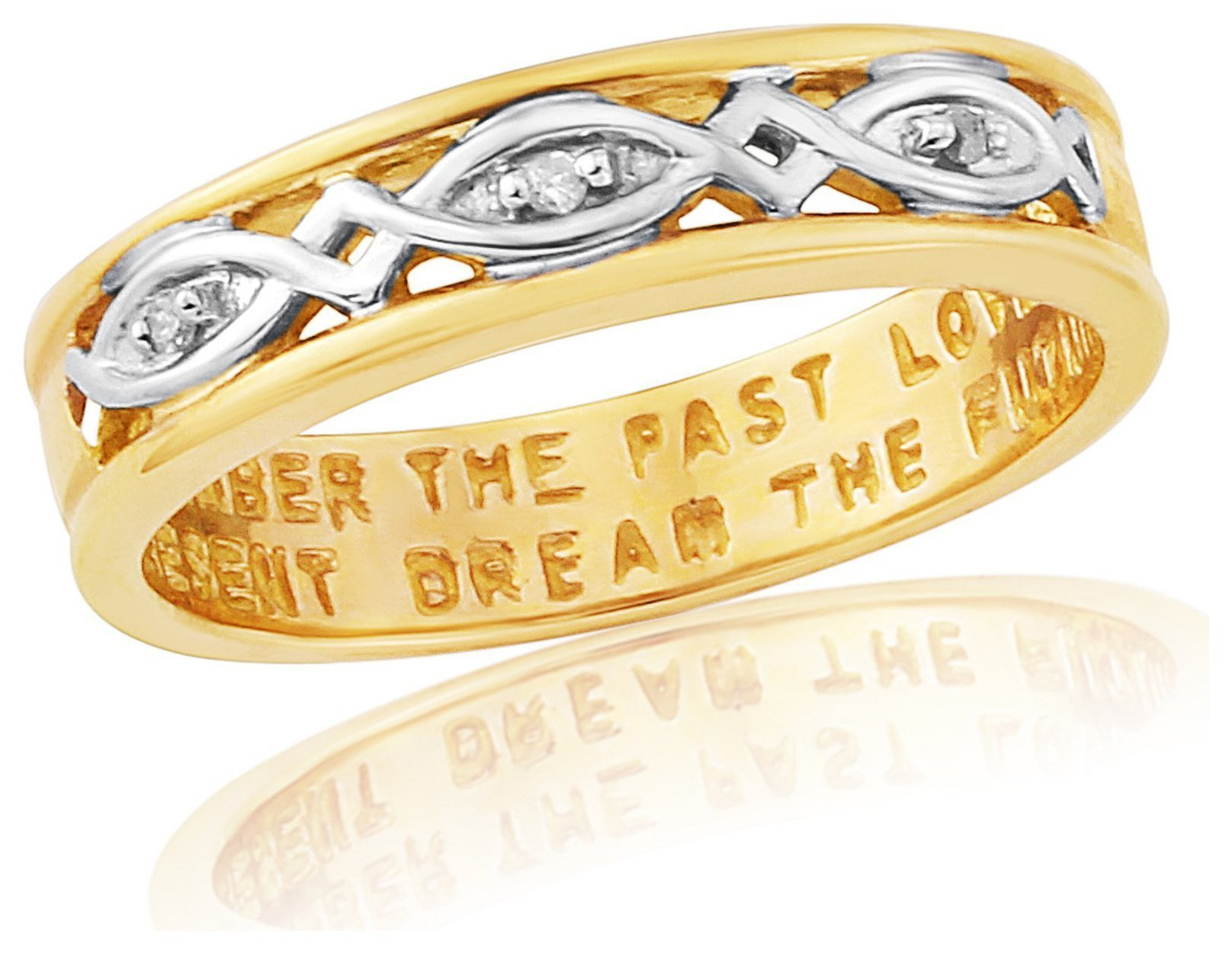 Buy 9ct Gold Plated Sterling Silver La s mitment Ring L at