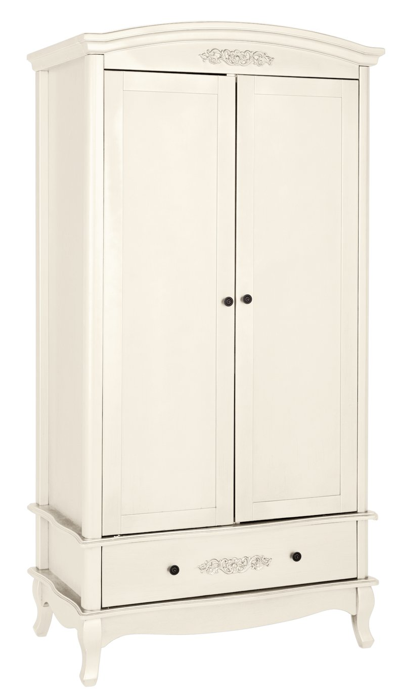Buy Collection Sophia 2 Door 1 Drawer Wardrobe Ivory At