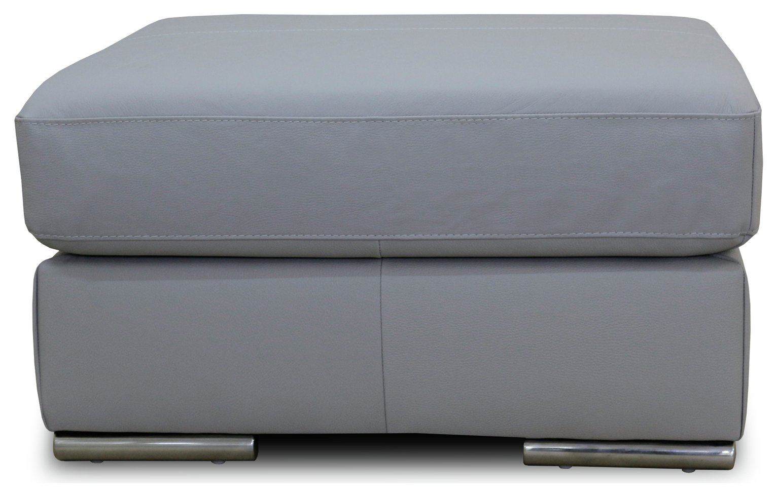 Sale On Hygena Valenica Leather Footstool Grey At