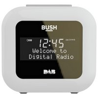 Bush DAB Alarm Clock Radio - White