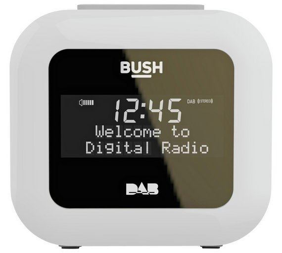 buy bush dab alarm clock radio white at your online shop for. Black Bedroom Furniture Sets. Home Design Ideas