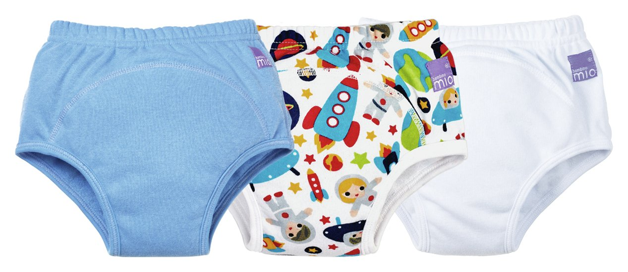 Image of Bambino Mio Blue Training Pants 18-24 Months - 3 Pack