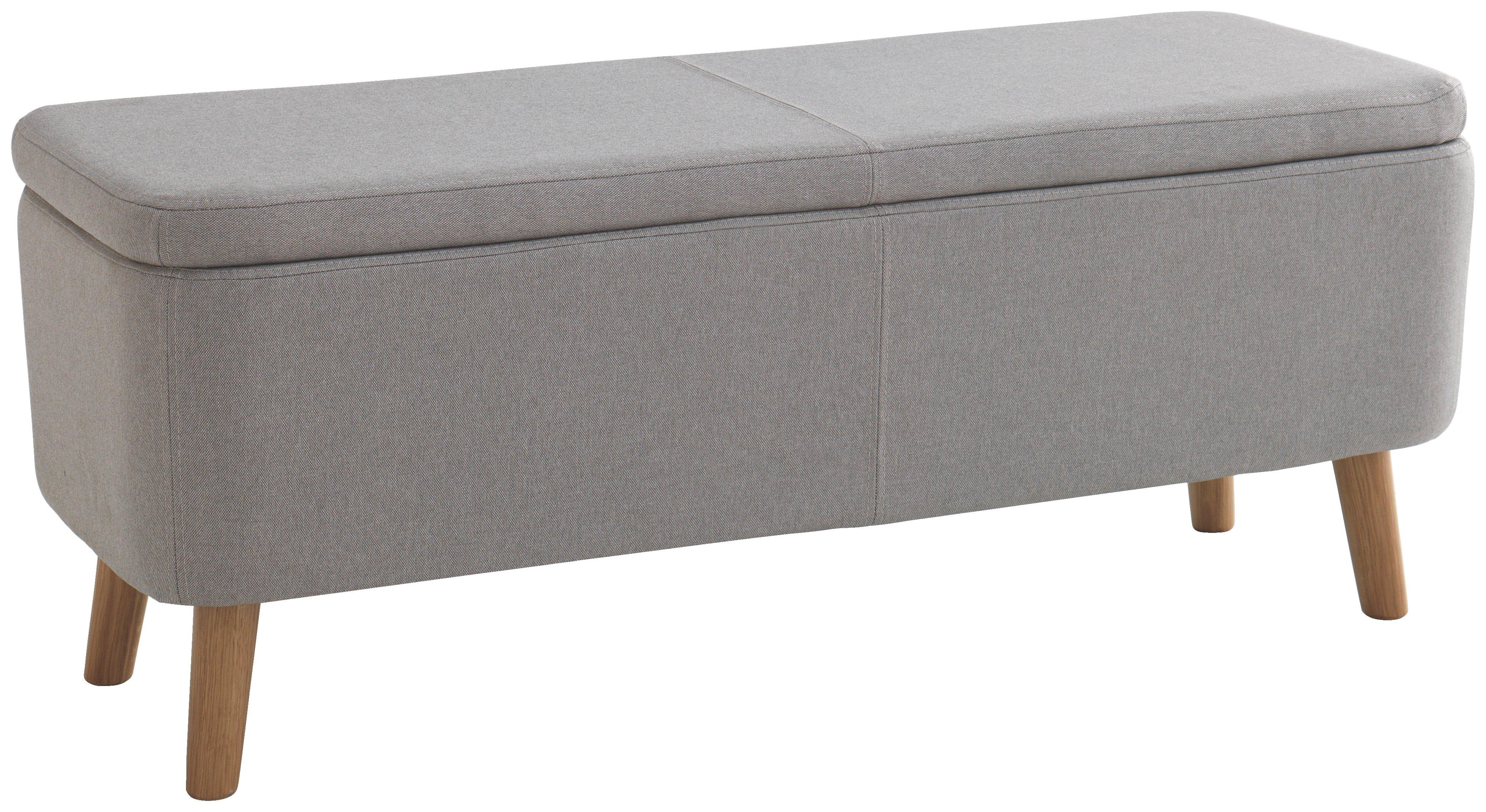 Buy Habitat Jacobs Upholstered Storage Bench Grey at Argoscouk
