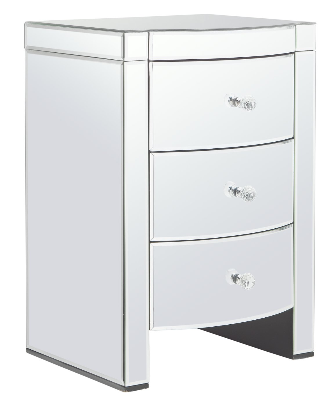 Argos Home Canzano 3 Drawer Bedside Cabinet - Mirrored