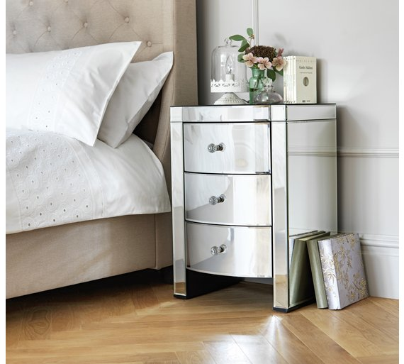 Buy Heart Of House Canzano 3 Drawer Bedside Chest