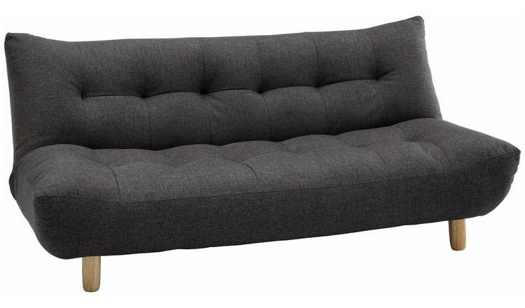 Habitat Kota 3 Seater Fabric Sofa Bed - Charcoal