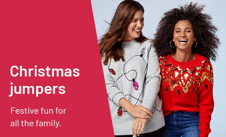 Christmas jumpers. Festive fun for all the family.