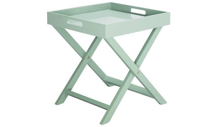 Buy Habitat Oken Sage Green Square Tray Table Side Tables Argos