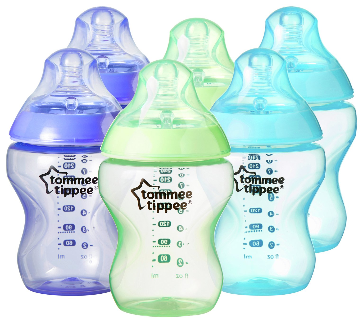 tommee-tippee-closer-to-nature-coloured-bottles-6-pack