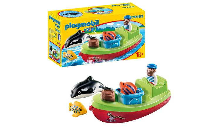 Playmobil 70183 1.2.3 Fisherman with Boat Playset